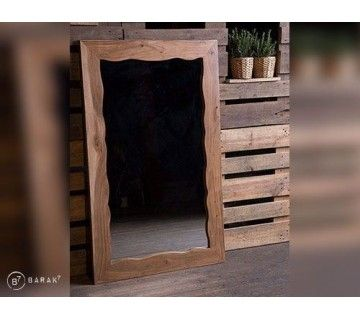 Miroir en acacia « Urban Jungle »
