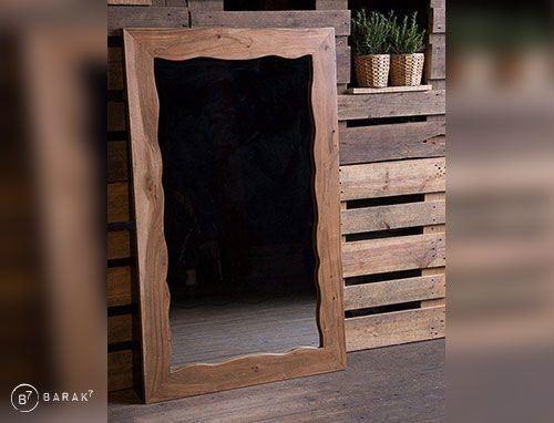 Miroir en acacia «Urban Jungle»