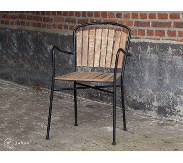 Chaise industrielle Oxford bois et métal