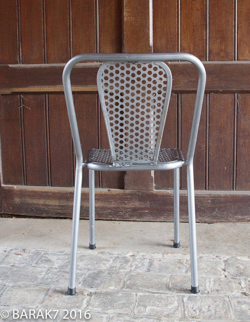 Chaise industrielle full métal Lincoln