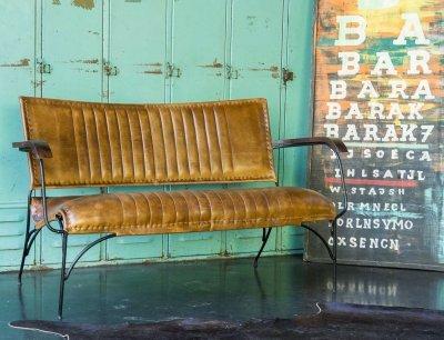 Fauteuil vintage en cuir Cosy 3 places
