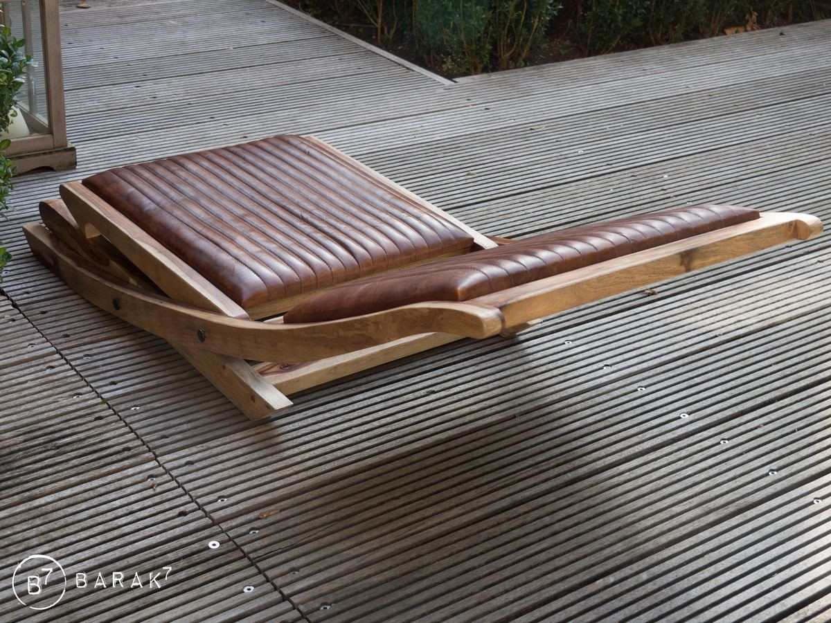 Chaise pliante en cuir COLONY