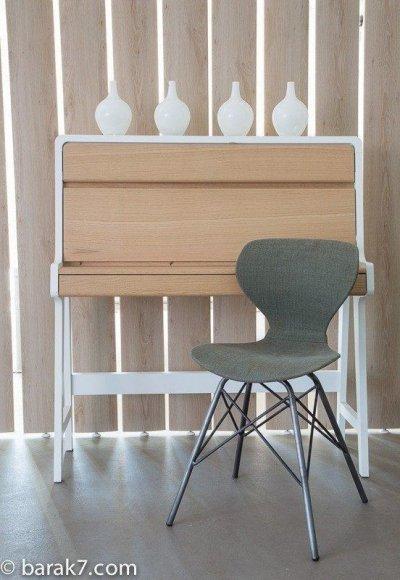 Chaise industrielle en tissu d'inspiration scandinave