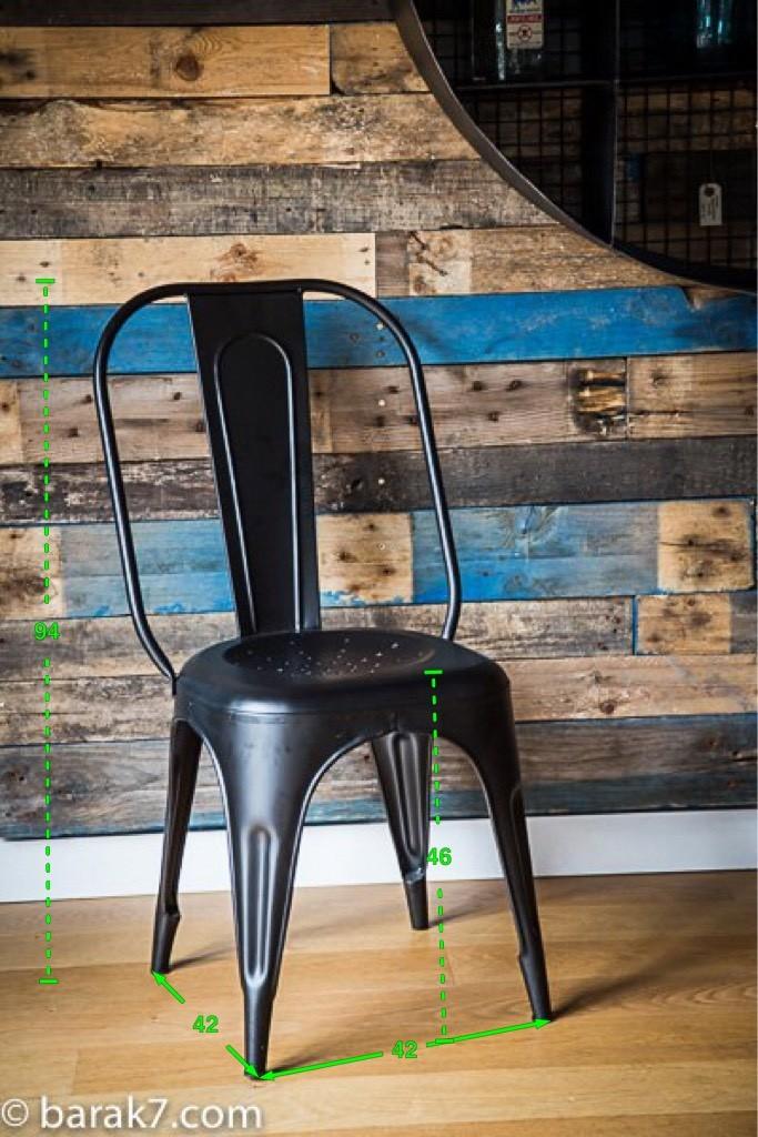 chaise industrielle m tal noire. Black Bedroom Furniture Sets. Home Design Ideas