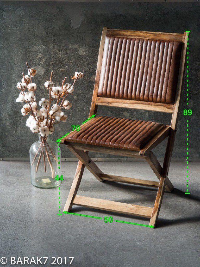 Chaise pliante en cuir COLONY