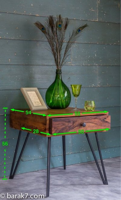 Table d'appoint industrielle d'inspiration scandinave