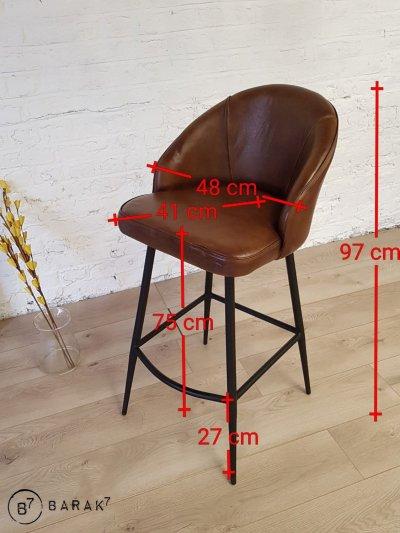 Chaise de bar en cuir Ritz