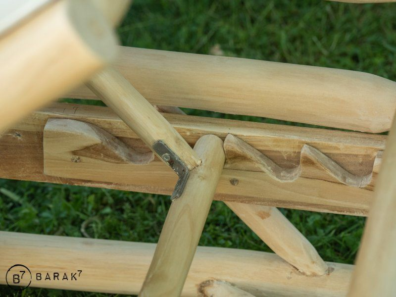 Transat en branches de teck - bois flotté