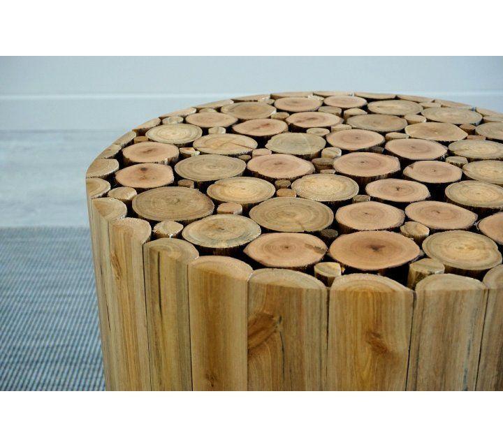Pouf en bois SCANDUS