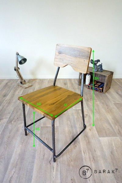 Chaise industrielle Ecolier