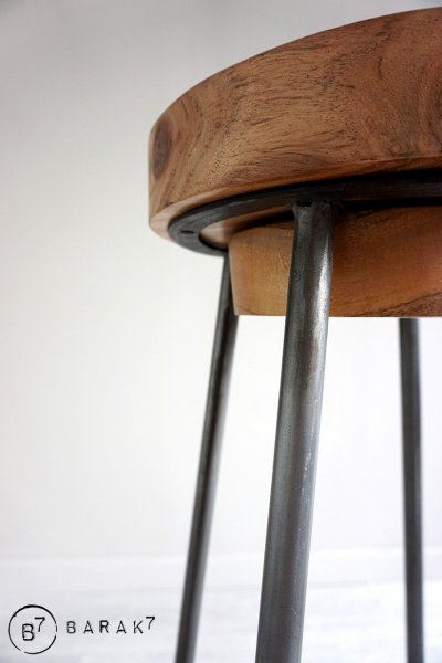 Tabouret scandinave SCANDUS bois et métal