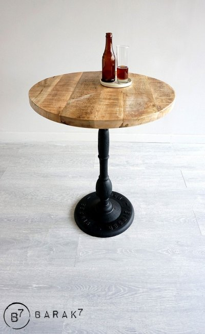 Table ronde industrielle bistrot 60 cm
