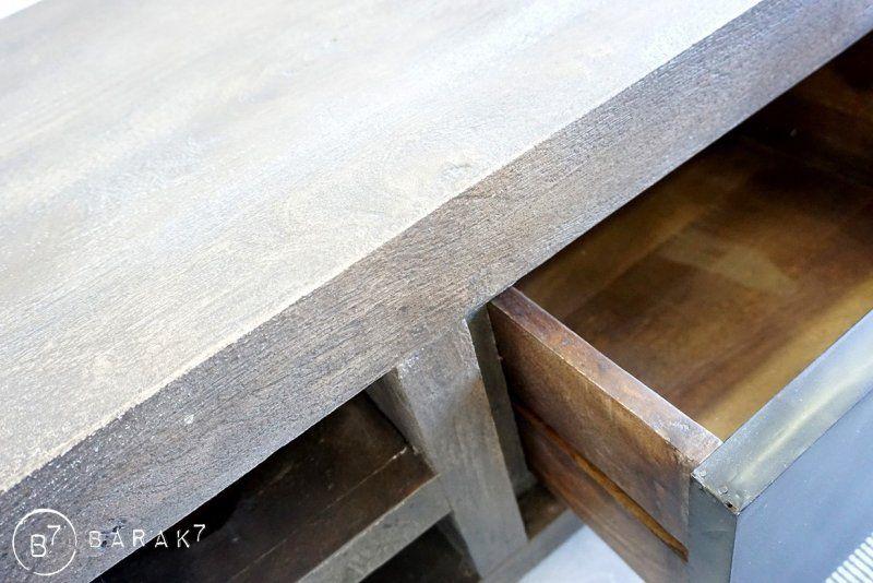 Meuble TV bois et métal design 19