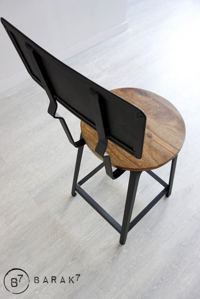 Chaise bois et metal Cleveland