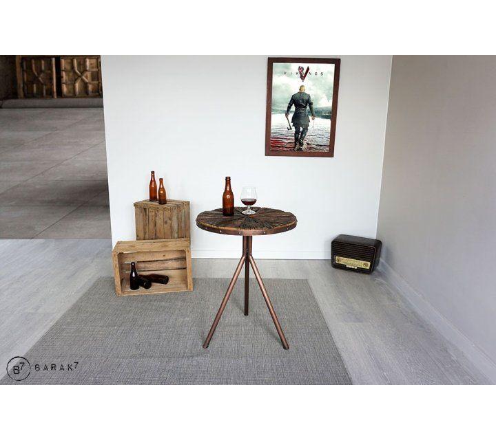 Table d'appoint industrielle exotique KALE