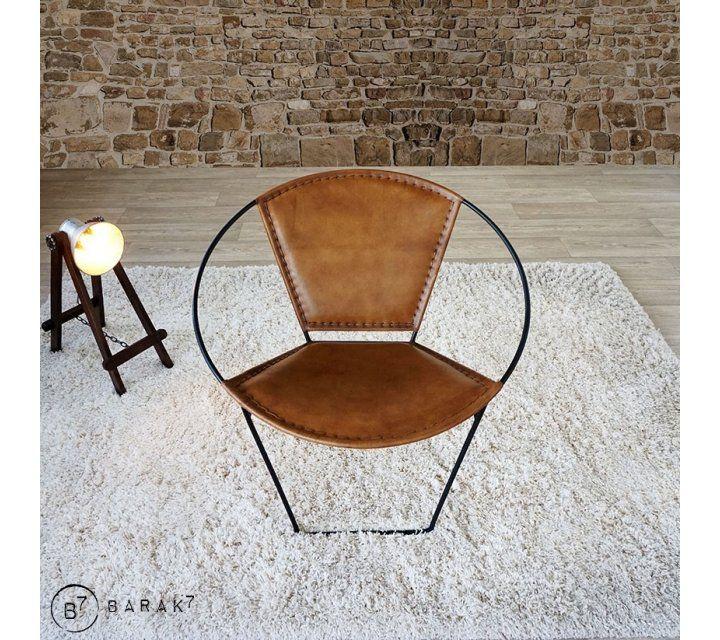 Chaise en cuir papillon PAON
