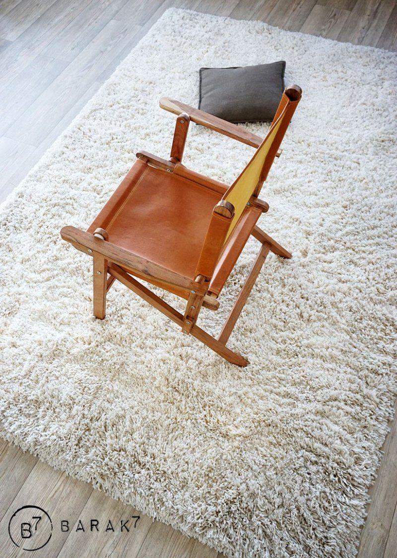 Lot de 2 chaises en teck et cuir outdoor PICNIC CHIC
