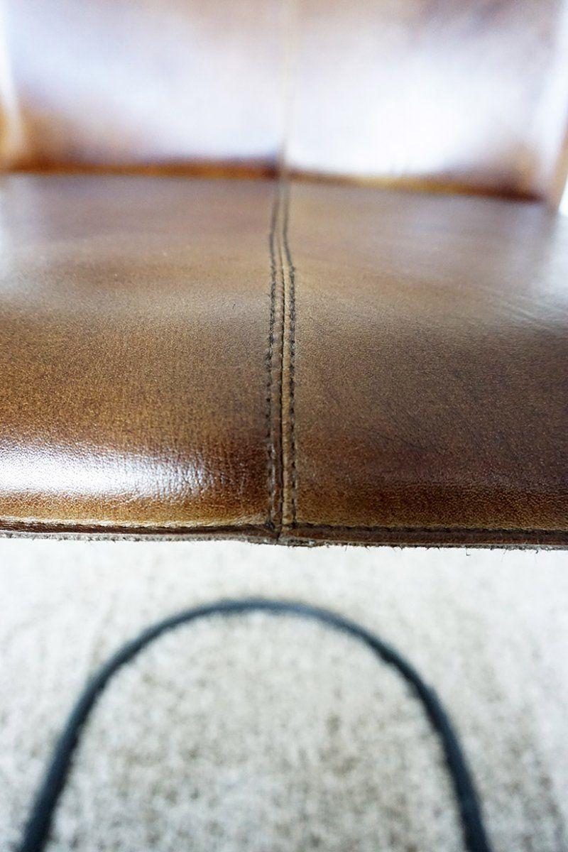 Chaise de bar en cuir Bemelmans