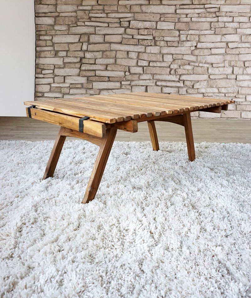 Table basse teck Outdoor PICNIC CHIC
