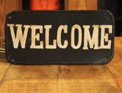 Panneau industriel Welcome
