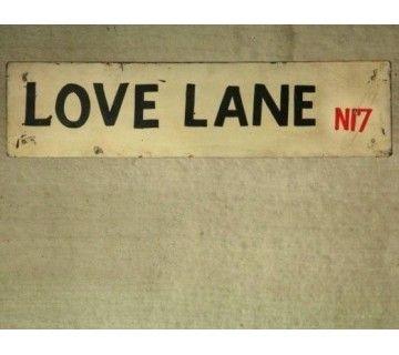 "Panneau style industriel ""Love Lane"""