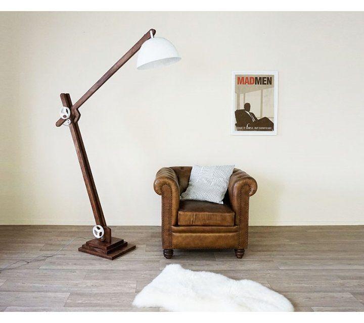 Lampe industrielle sur pied Acrobat WHITE
