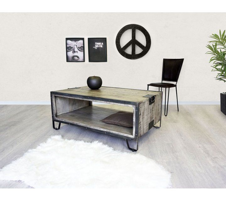 Table basse industrielle chic grey