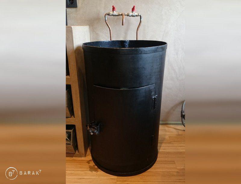Meuble vasque style industriel