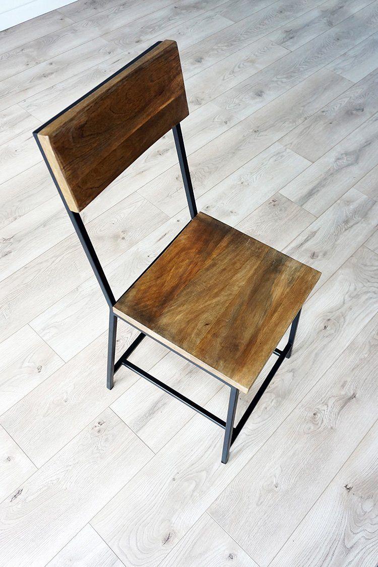 Chaise bois et métal Robin