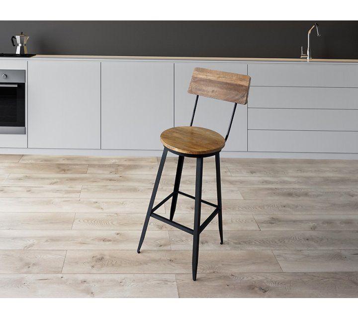 Chaise de bar industrielle Jacko
