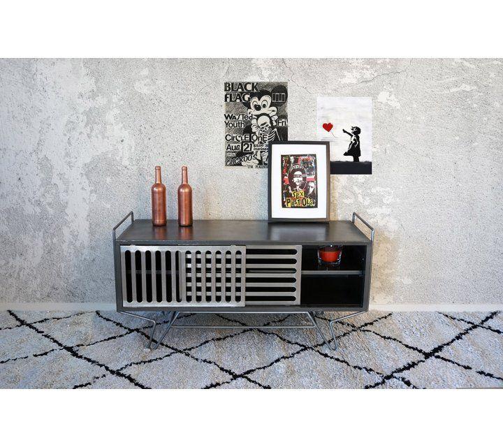 Petit meuble TV metal Sixties Design