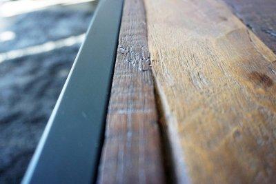 Table basse bois et métal Recycled