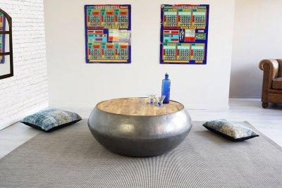 Table basse bois et métal Essential