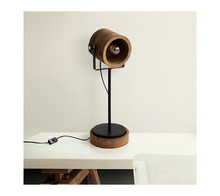 Lampe à poser bois et métal - Woody