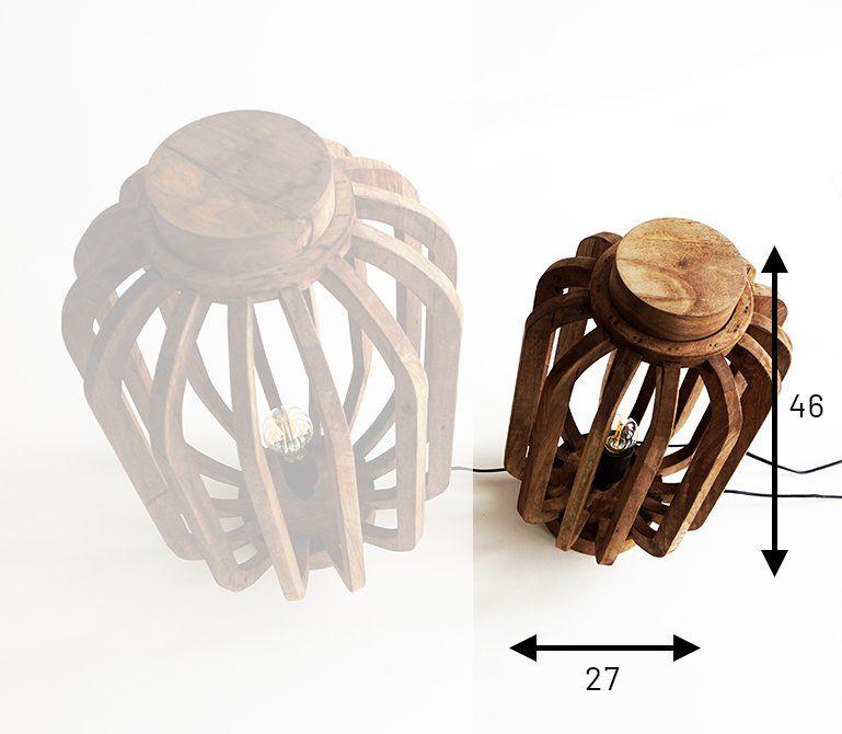 Lanterne artisanale en manguier 46 cm