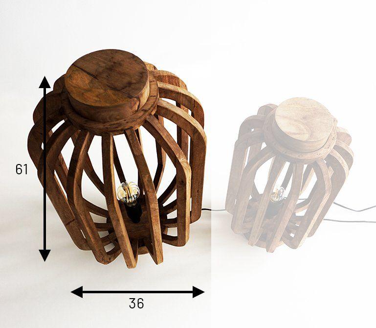 Lanterne artisanale en manguier 61 cm