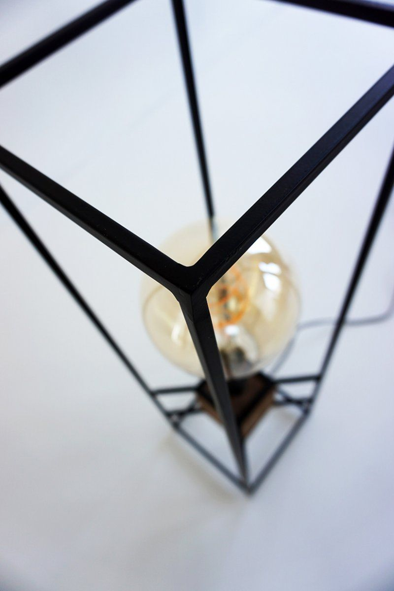 Lampadaire industriel bois et métal 70 cm - Totem