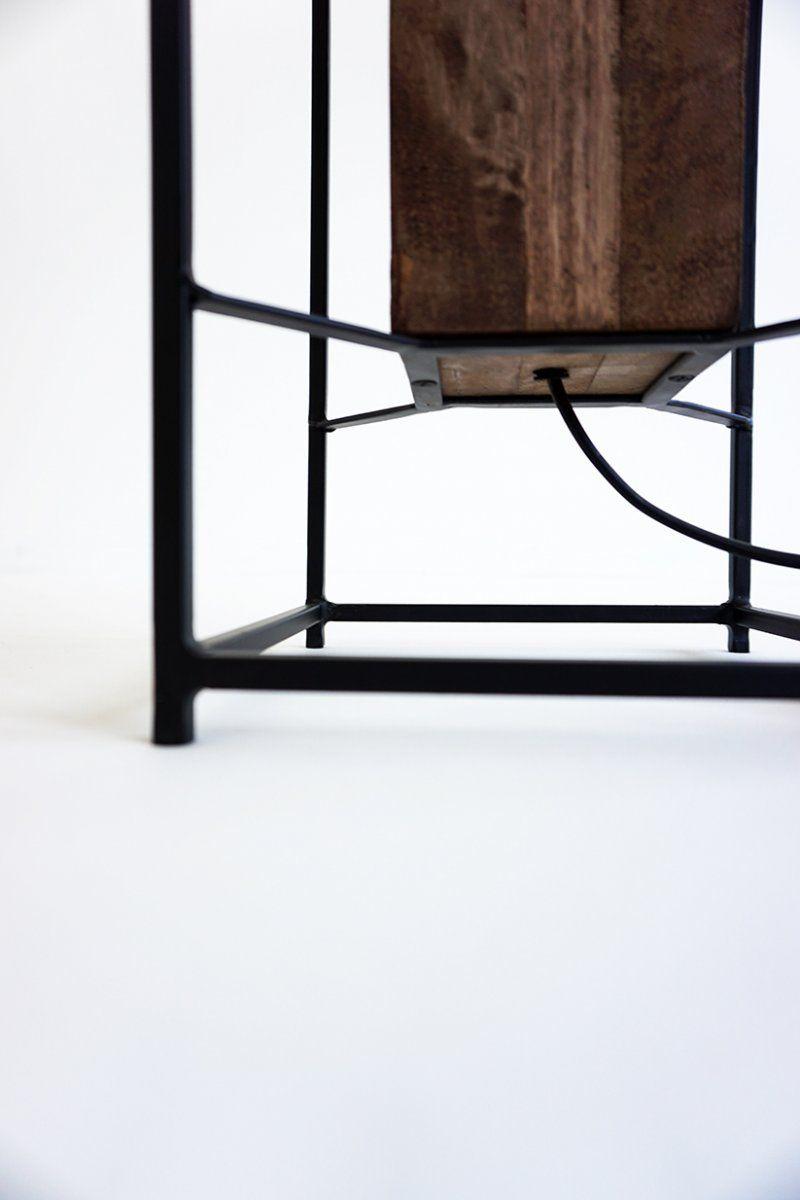 Lampadaire industriel bois et métal 140 cm - Totem