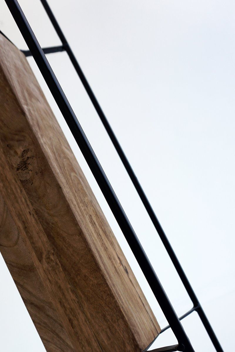 Lampadaire industriel bois et métal 100 cm - Totem