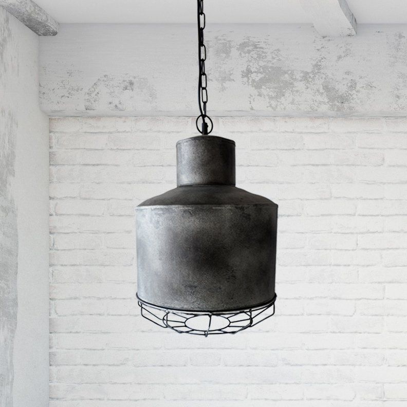 Suspension industrielle en métal 31 cm - Berlin
