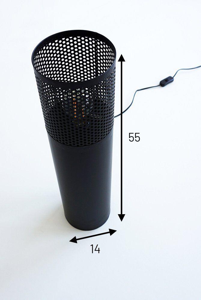 Lampadaire industriel en métal noir 55 cm - Candle