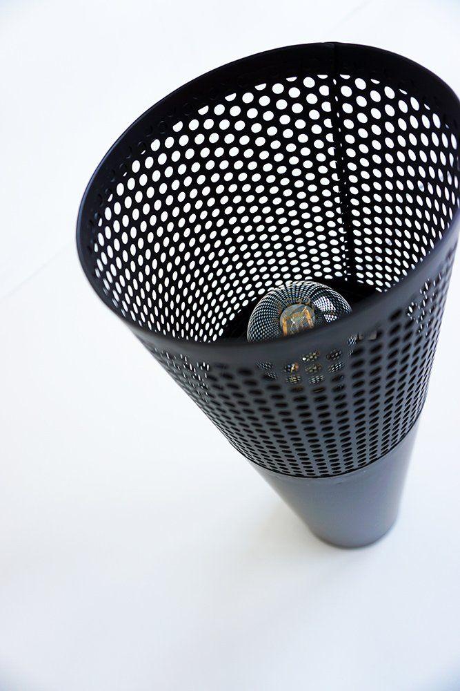 Lampadaire industriel en métal noir 70 cm - Candle