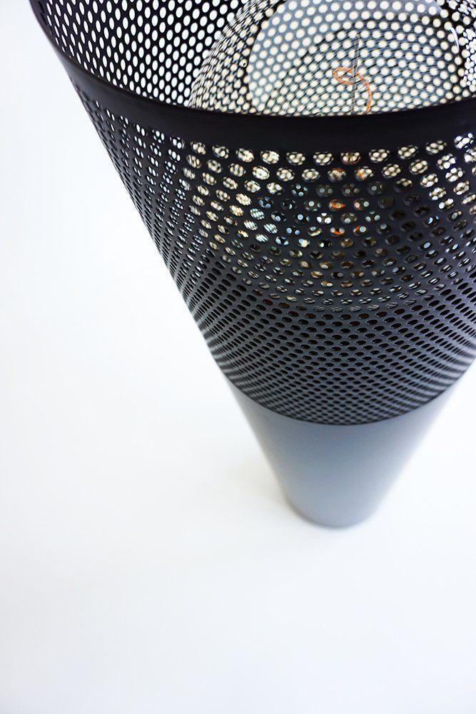 Lampadaire industriel en métal noir 105 cm - Candle