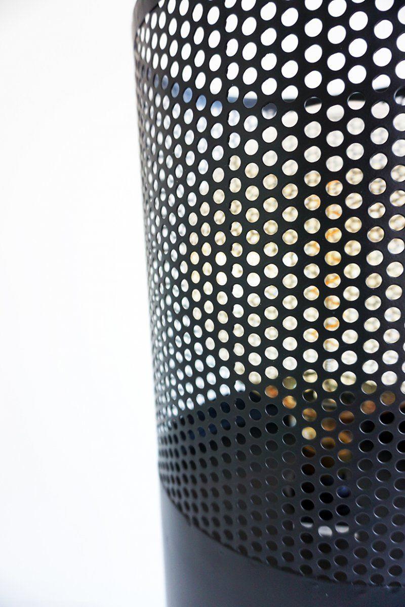 Lampadaire industriel en métal noir 125 cm - Candle