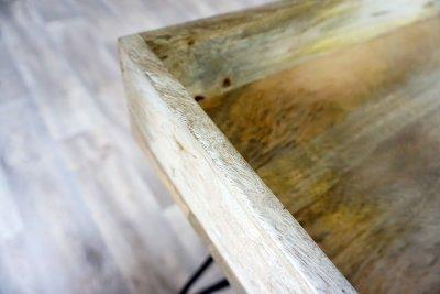 Bureau industriel en bois et métal