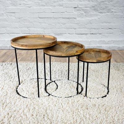 Table basse bois et métal - LEAF