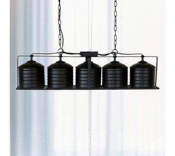 Suspension industrielle 5 lampes - Metalika