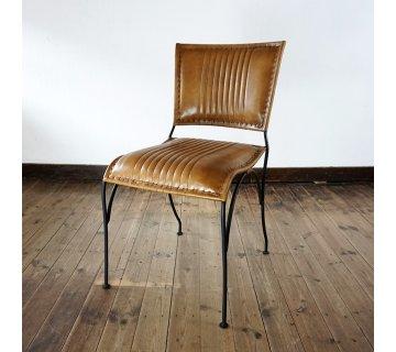 Chaise vintage en cuir COSY