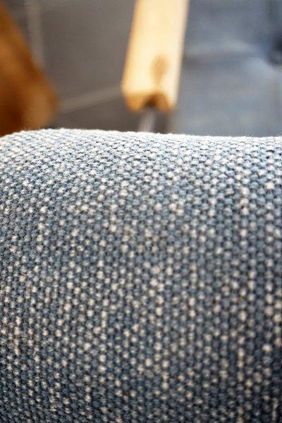 Fauteuil vintage en tissu jeans