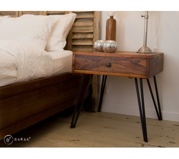 Table d'appoint industrielle d'inspiration scandinave